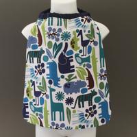 Petite serviette de table enfant 1 à 3 ans cou élastiqué Animaux d'Afrique Lilooka