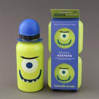 Lot deux boites à goûter et gourde enfants Monstre Crocodile Creek sans BPA