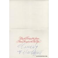 Ella FITZGERALD - Carte de voeux signée