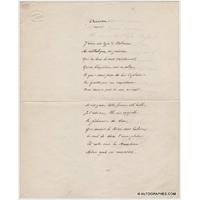 Alphonse DAUDET - Manuscrit autographe signé (rare oeuvre de jeunesse)