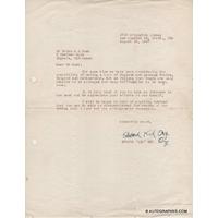 """Edward """"Kid"""" ORY - Lettre dactylographiée signée (1947)"""