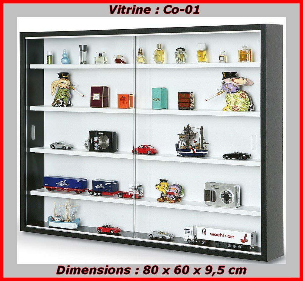 vitrine murale en verre pas cher pour collection de miniatures. Black Bedroom Furniture Sets. Home Design Ideas