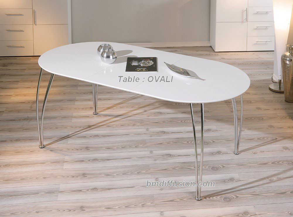 Table manger design table de cuisine ou de salle for Salle a manger moderne avec table ovale