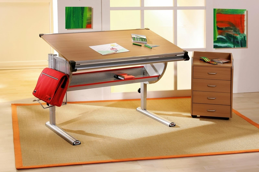 Bureau enfant plato meubles bureau table dessin enfant for Table de dessin architecte