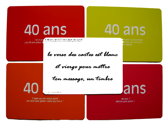 10 belles cartes postales citations pour l 39 anniversaire de 40 ans anniversaire 40 ans les. Black Bedroom Furniture Sets. Home Design Ideas