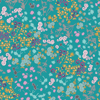 Tissu Indelible Fleurs 20 x 110 cm