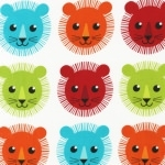Tissu Roar lion Bright 22 x 110 cm