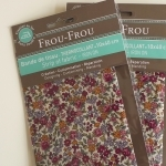 Bande de tissu thermocollant Frou-Frou fleuri rose orange coloris 19, 10x40 cm