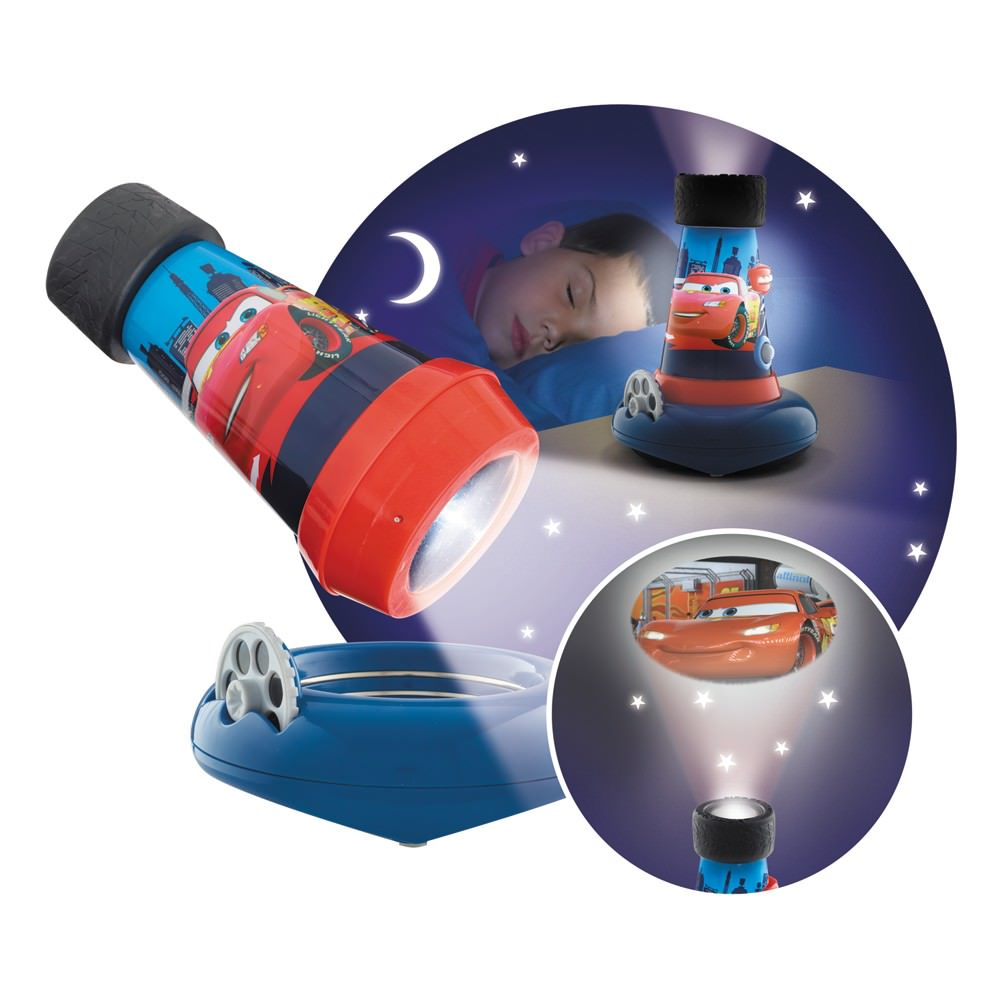 disney cars 2 lampe 3 en 1 lampe de poche veilleuse projecteur 12 x 16 cm disney. Black Bedroom Furniture Sets. Home Design Ideas