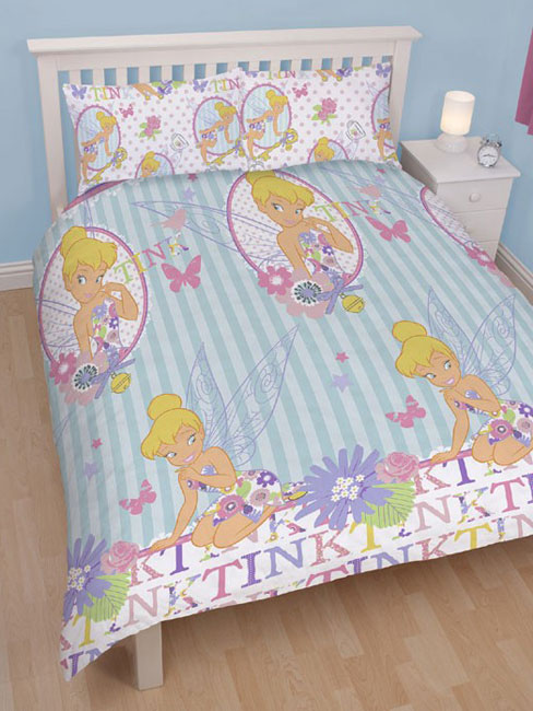 disney fairies f e clochette parure de lit housse de couette 200 x 200 cm cherish. Black Bedroom Furniture Sets. Home Design Ideas