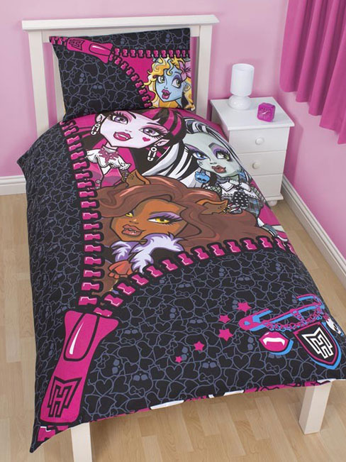 Monster high parure de lit housse de couette 140 x 200 cm monster hig - Housse de couette monster high ...