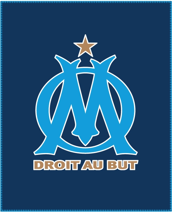 Plaid om couverture 110 x 140 cm logo olympique de for Decoration chambre olympique de marseille