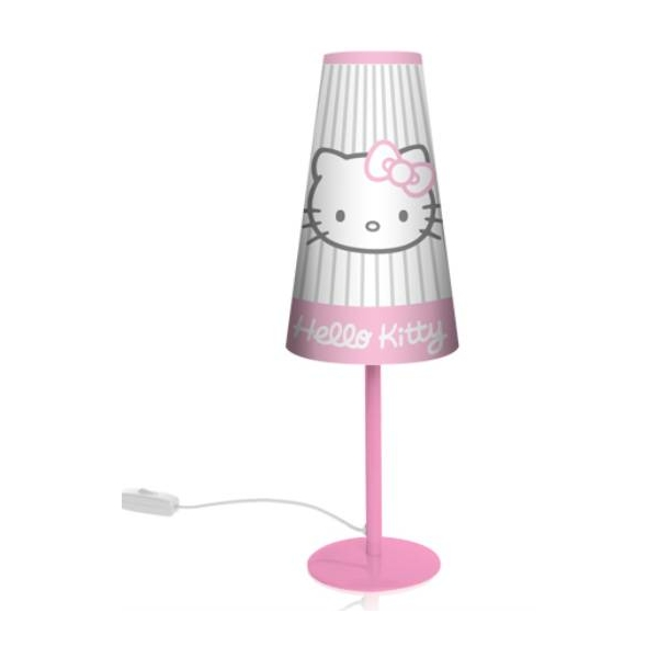 lampe de chevet hello kitty conique streep haut 39 cm luminaire lampe suspension. Black Bedroom Furniture Sets. Home Design Ideas