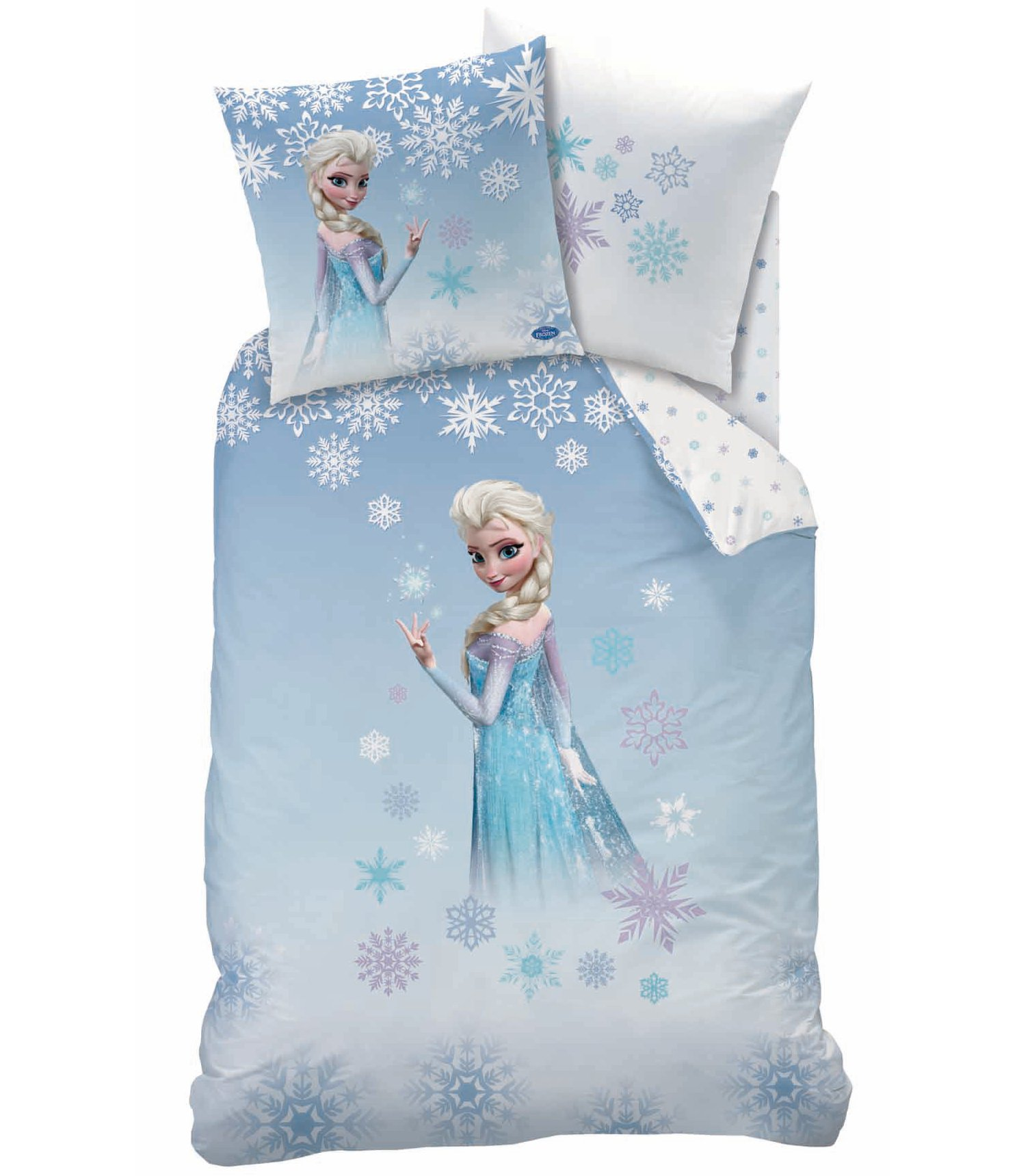 housse de couette disney princesse frozen parure de lit r versible 140 x 200 cm decokids. Black Bedroom Furniture Sets. Home Design Ideas