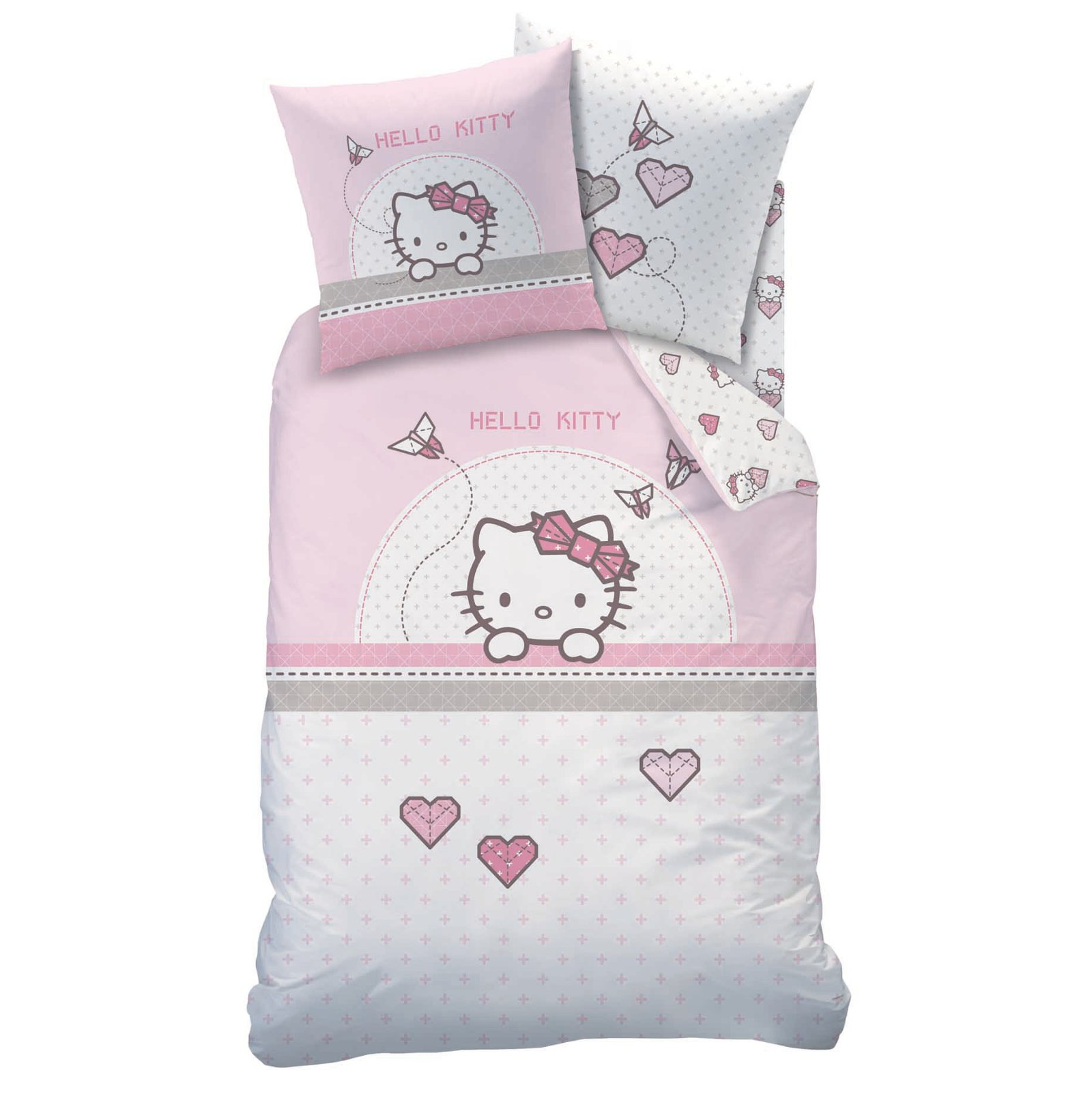 Housse couette hello kitty 200x200 for Housse de voiture hello kitty