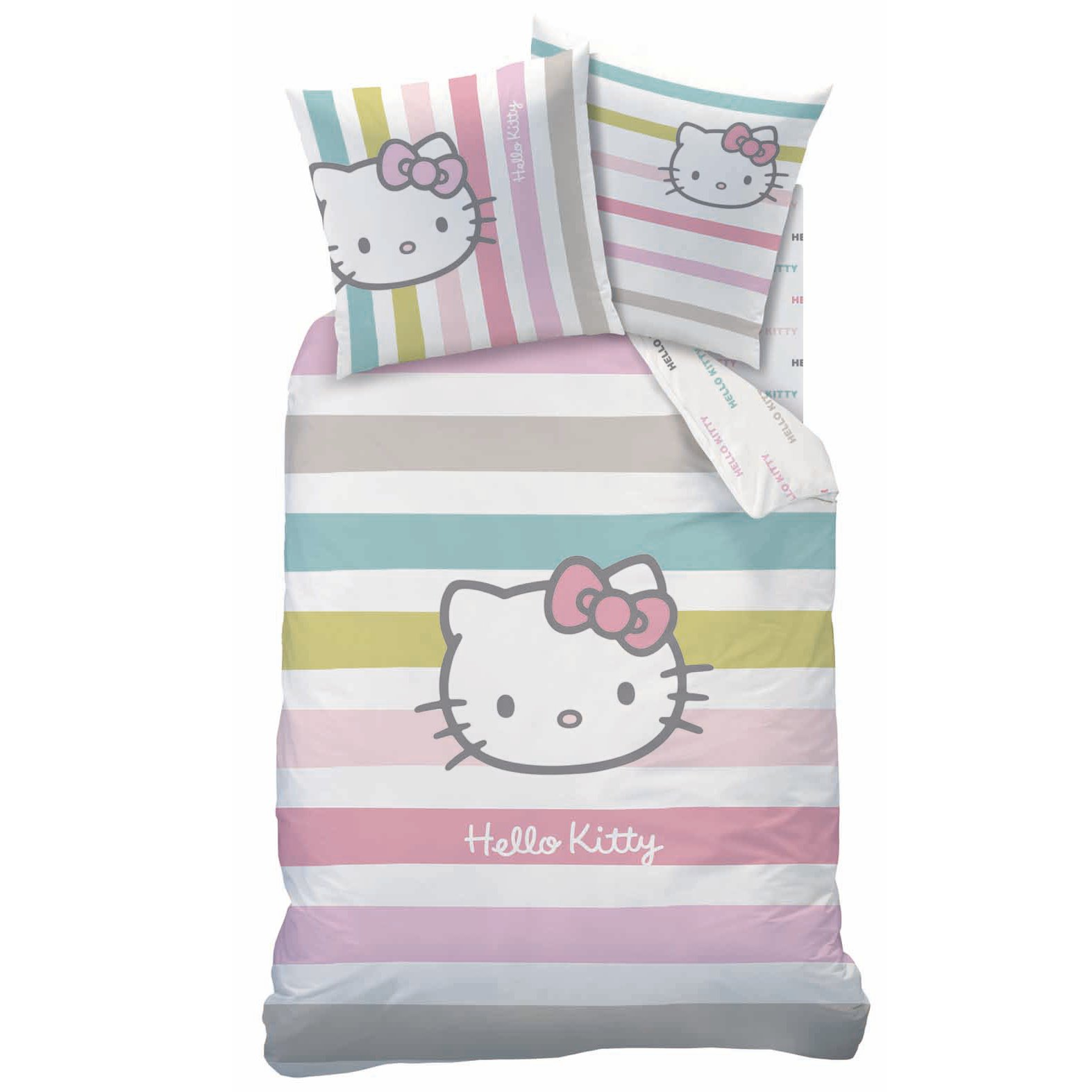 housse de couette hello kitty parure de lit housse de couette 140 x 200 cm ivana. Black Bedroom Furniture Sets. Home Design Ideas