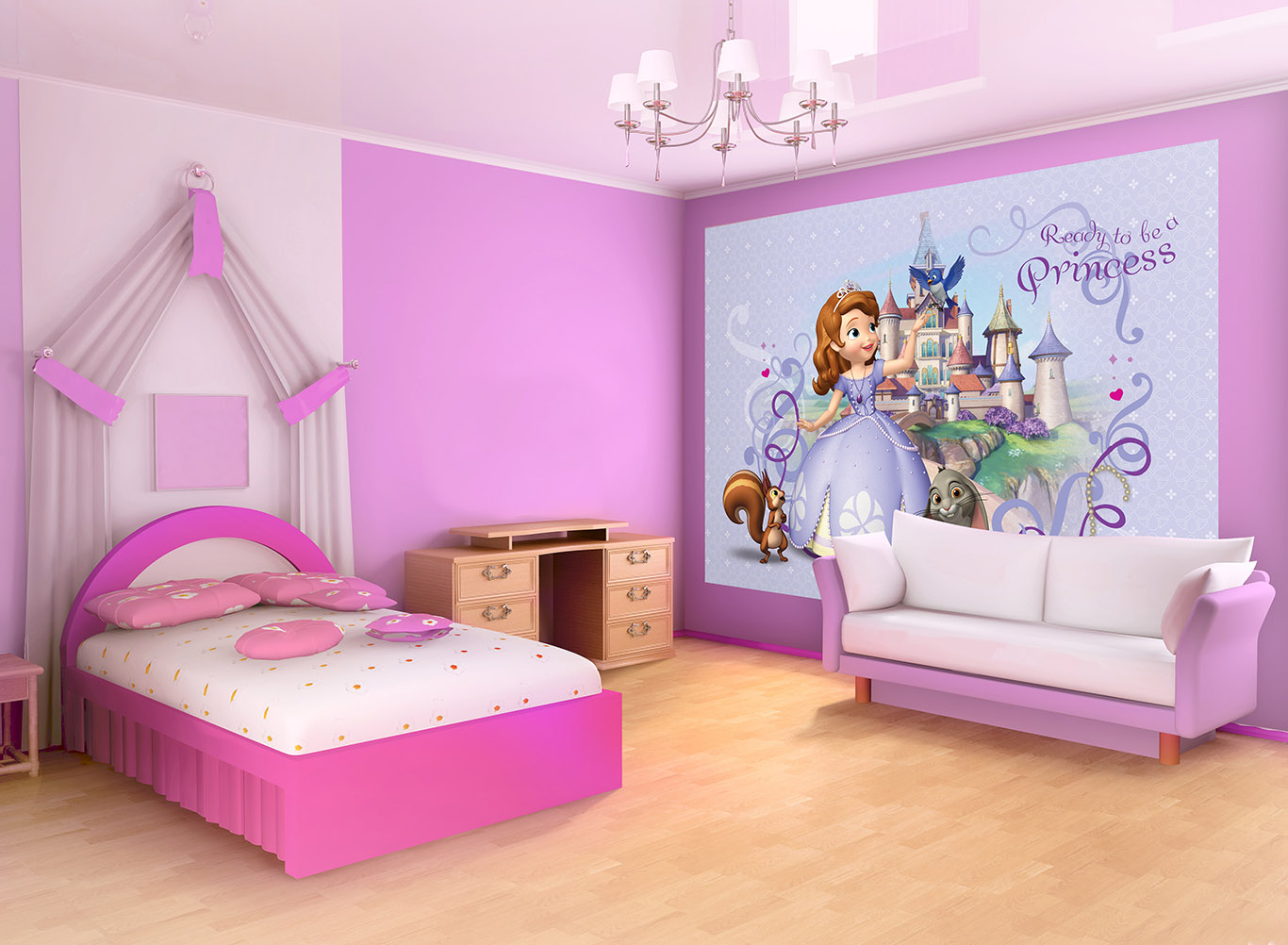 poster g ant sofia papier peint l xxxl disney. Black Bedroom Furniture Sets. Home Design Ideas