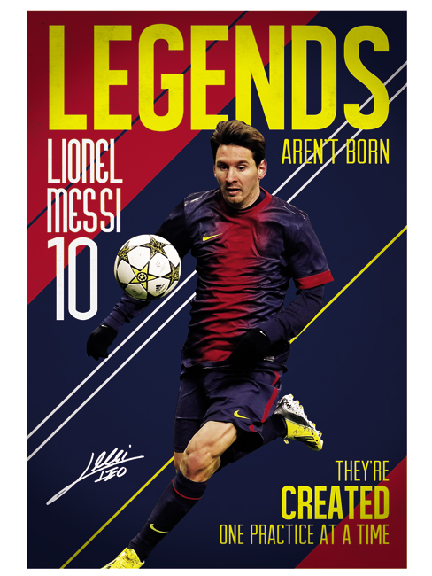 football poster geant fc barcelone lionel messi x football barcelone. Black Bedroom Furniture Sets. Home Design Ideas