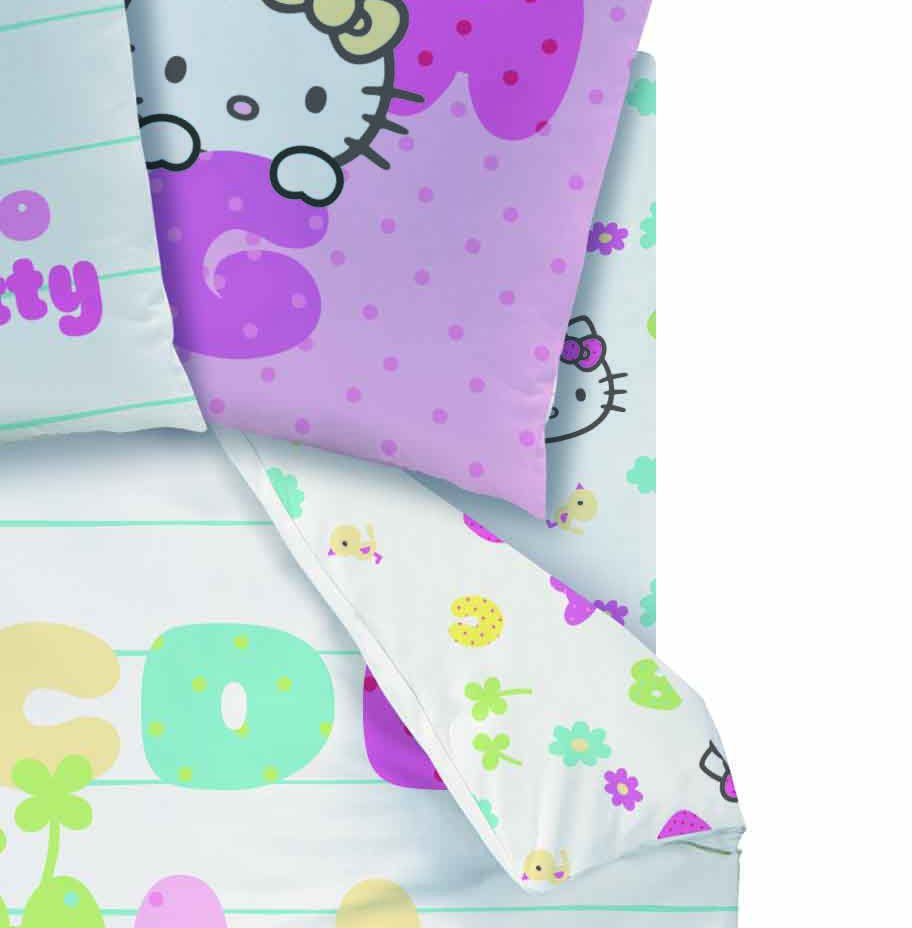 Drap housse hello kitty ab c daire 90 x 190 cm for Housse de voiture hello kitty