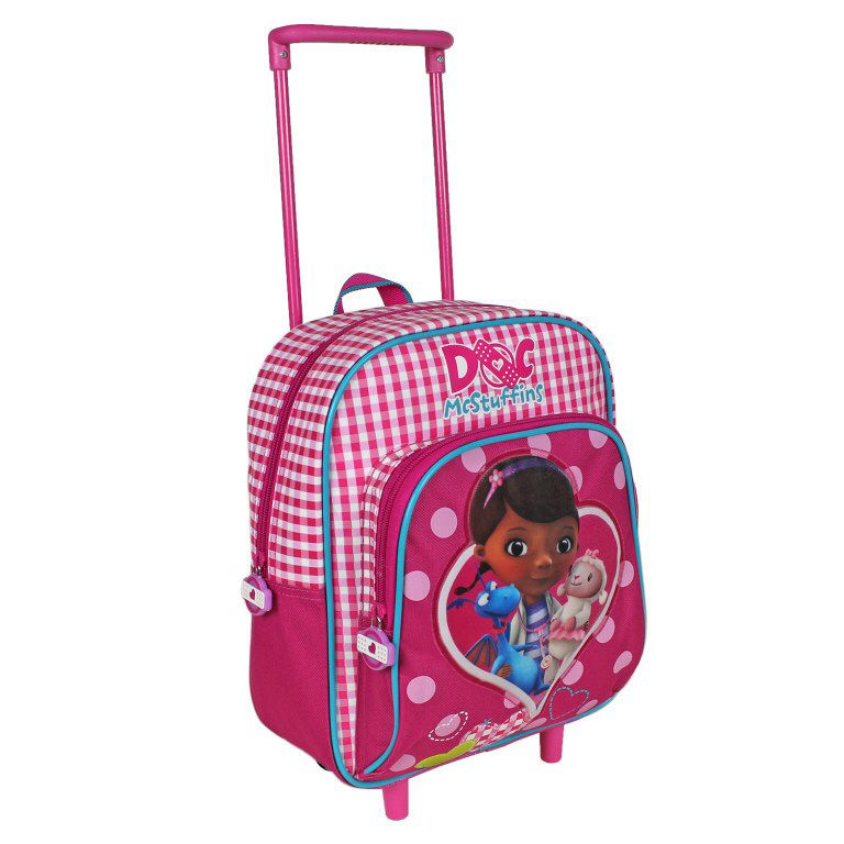docteur la peluche trolley sac dos cartable pour maternelle 29 cm de hauteur docteur. Black Bedroom Furniture Sets. Home Design Ideas