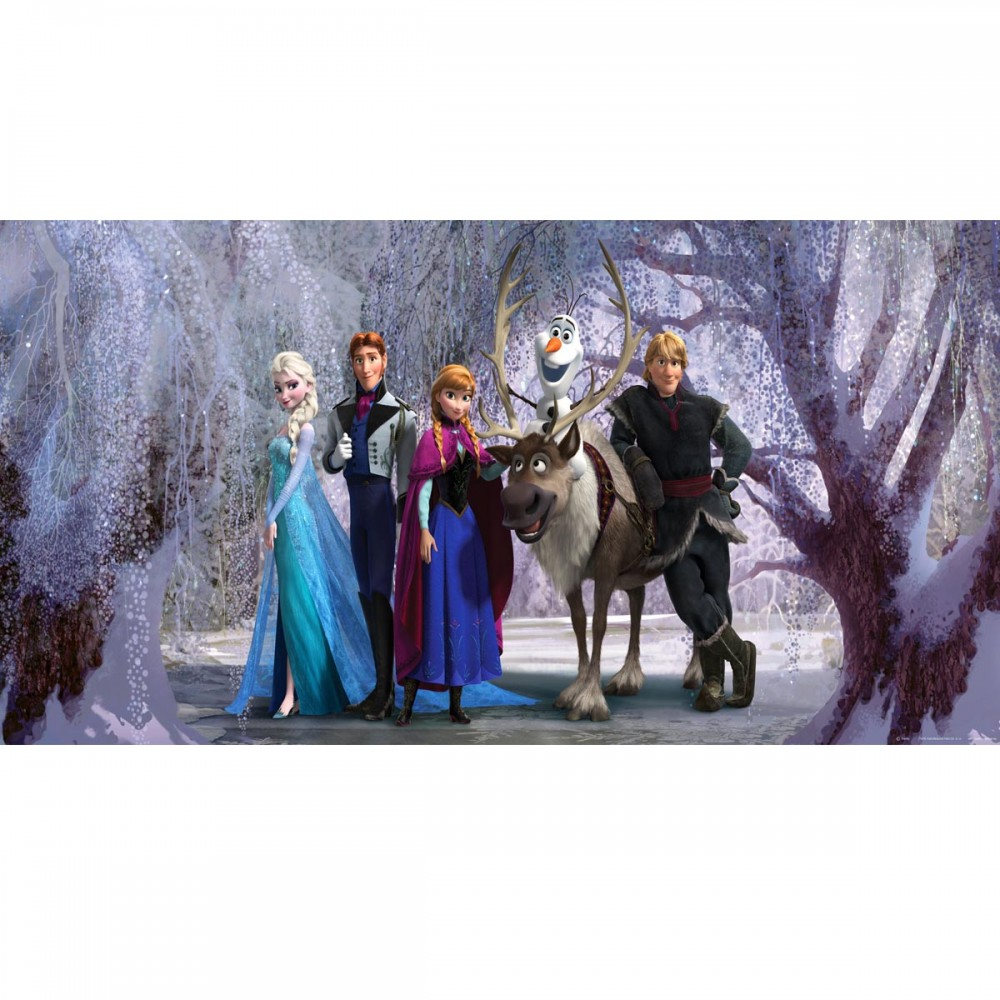 frozen poster g ant horizontal papier peint reine des neiges 202x90 cm frozen reine des. Black Bedroom Furniture Sets. Home Design Ideas