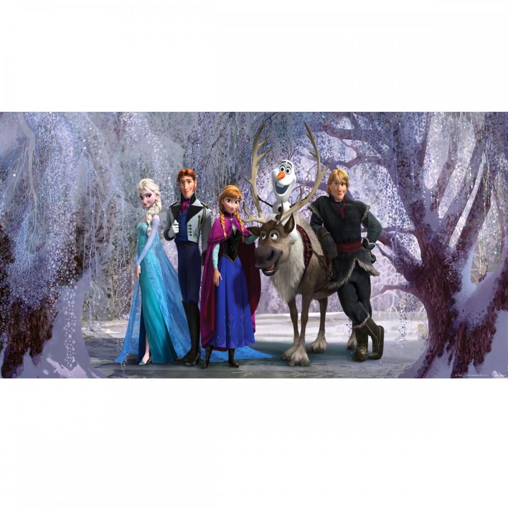 Frozen poster g ant horizontal papier peint reine des for Chambre reine des neiges
