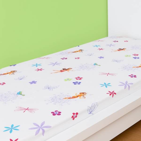 disney fairies drap housse f e clochette light 90 x 190 cm fairies f e clochette. Black Bedroom Furniture Sets. Home Design Ideas