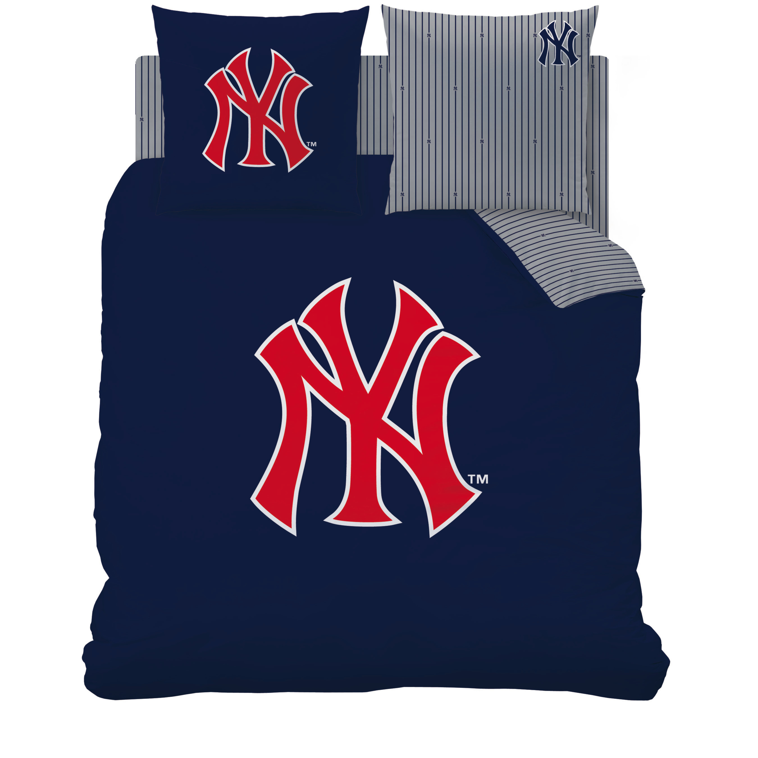 housse de couette new york yankees parure de lit 200 x 200 cm ny decokids tous leurs h ros. Black Bedroom Furniture Sets. Home Design Ideas