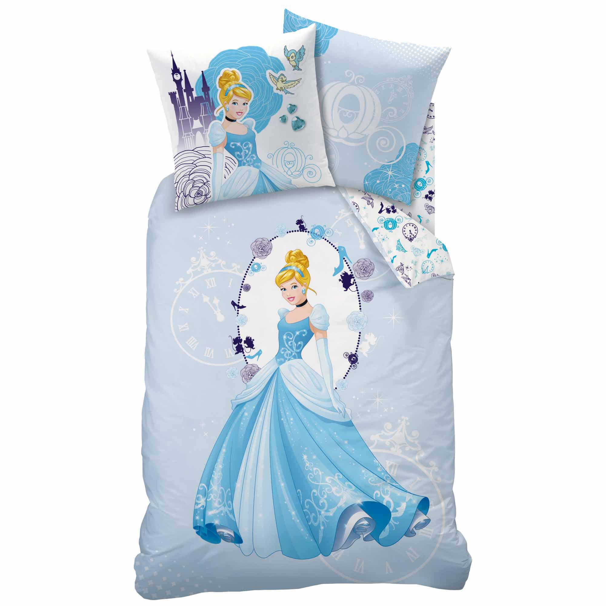 disney princesse parure de lit housse de couette cendrillon 140 x 200 cm cinderella. Black Bedroom Furniture Sets. Home Design Ideas