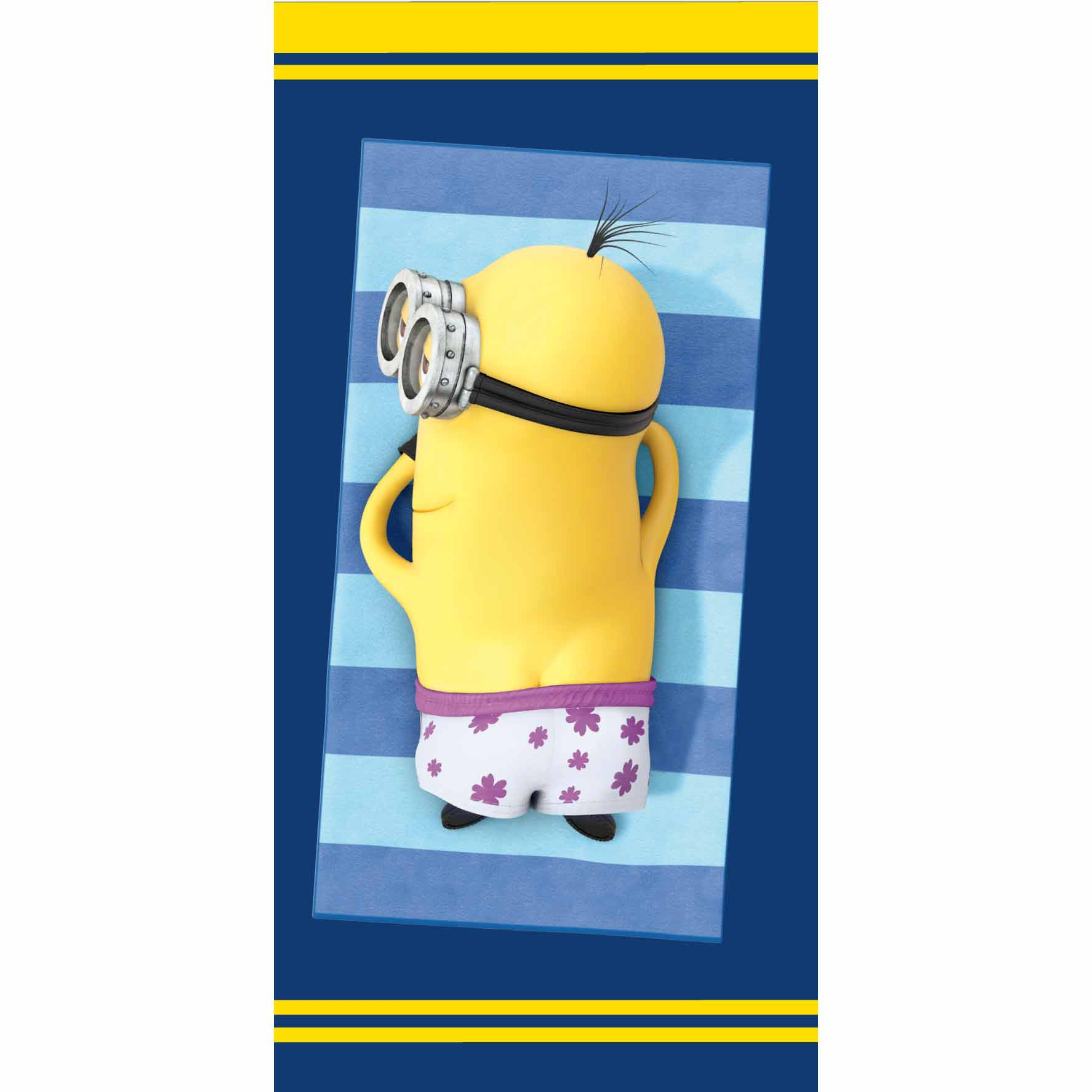 minions serviette drap de bain plage 75 x 150 cm. Black Bedroom Furniture Sets. Home Design Ideas