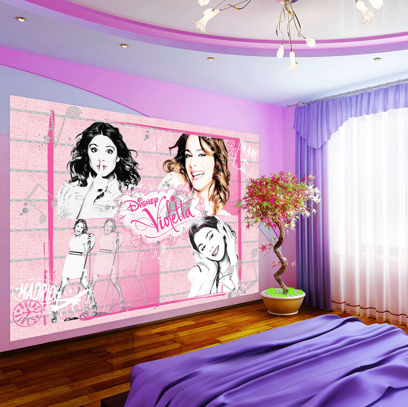 violetta poster papier peint l xxxl violetta. Black Bedroom Furniture Sets. Home Design Ideas