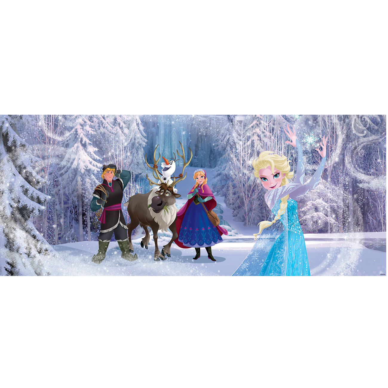 frozen reine des neiges poster panoramique papier peint 250 x 104 cm elsa anna. Black Bedroom Furniture Sets. Home Design Ideas