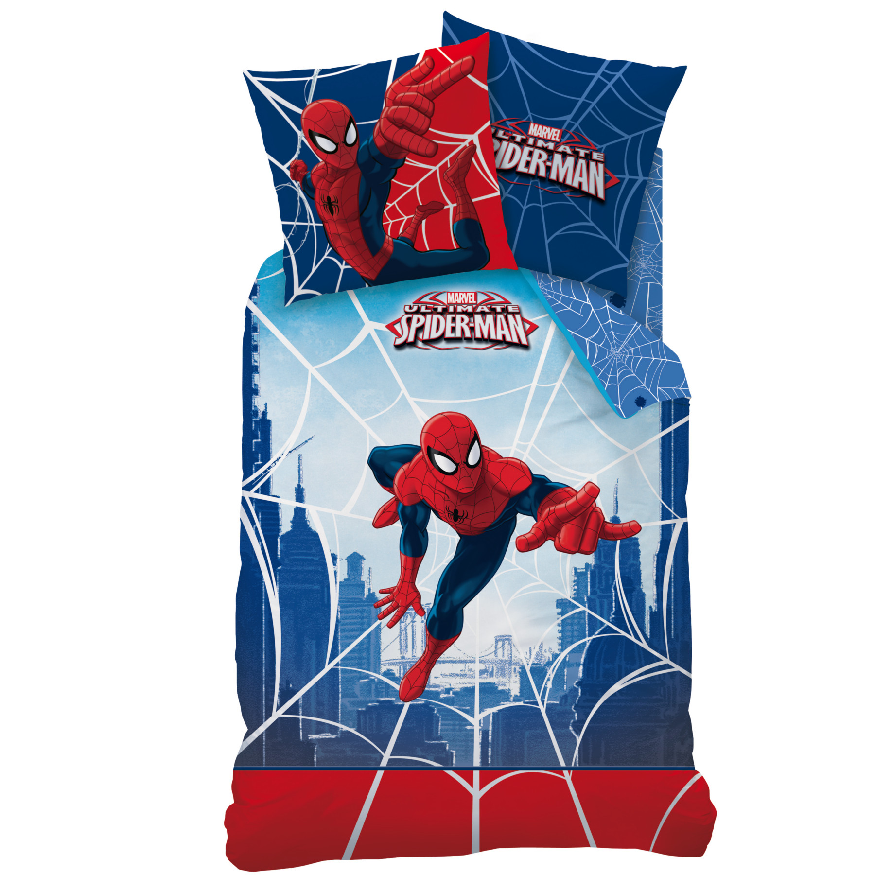 Parure lit spiderman for Housse de couette spiderman 200x200