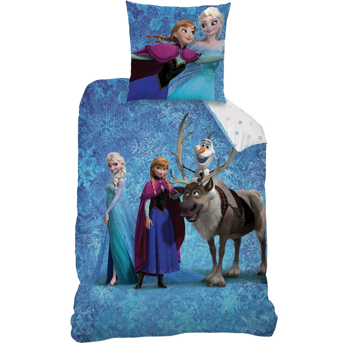 reine des neiges parure de lit housse de couette frozen team frozen reine des neiges. Black Bedroom Furniture Sets. Home Design Ideas