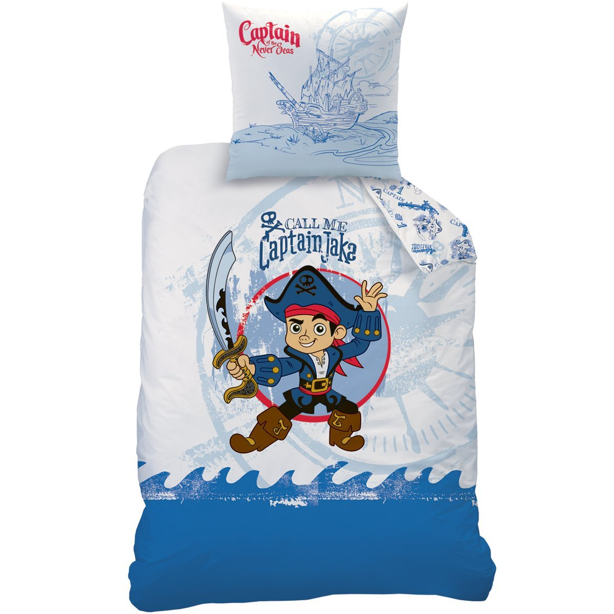 Pirate jake parure de lit housse de couette 140 x 200 cm captain jake le pirate - Housse de couette pirate ...