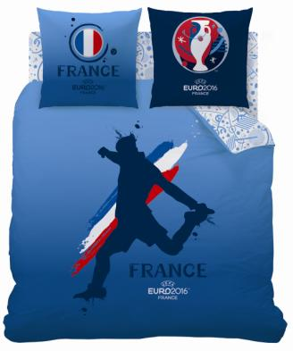 Coupe europe football france parure de lit housse de for Housse couette foot