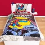 "Parure de lit Spiderman "" Marvel Comic"" 220 x 240 cm"