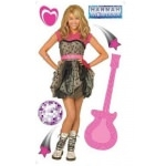 HANNAH MONTANA - STICKERS  - 1 sticker géant (130 cm)+ 6 stickers
