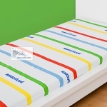 "MARSUPILAMI - Drap Housse - 90 x 190 cm - ""Stripes"""
