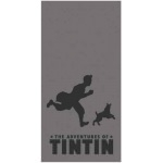SERVIETTE DE BAIN - Tintin - Shadow Black - 152 x 76 cm