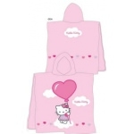HELLO KITTY - Poncho - Cape de bain Hello Kitty Lea - 120 x 60 cm