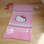 SAC DE COUCHAGE en polaire+ sac de transport Hello Kitty - 75 x 150 cm