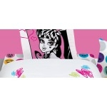 MONSTER HIGH - Drap housse 90 x 190 cm - assorti à la housse de couette Better black et high school