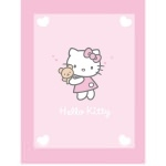 HELLO KITTY Couverture enfant - Plaid Alice 75 x 100 cm