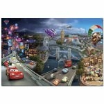 "DISNEY CARS 2 - Poster - Affiche  - 61 X 91 cm - ""World Tour"""