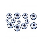 FOOTBALL-  12 STICKERS BALLONS
