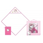 "HELLO KITTY - Cape de bain + Gand de toilette- "" Emma """
