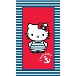 "HELLO KITTY - Serviette - Drap de bain/plage - 70 x 120 cm - "" Ile de re """