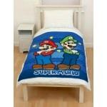 "SUPER MARIO - Plaid polaire - Couverture  - 120 x 150 cm - "" Race """