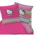 "Hello Kitty  - DRAP HOUSSE "" Sarah Summer "" 140 x 190 cm"